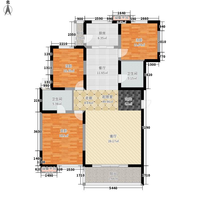 高科新花园133.20㎡3-6号楼B面积13320m户型