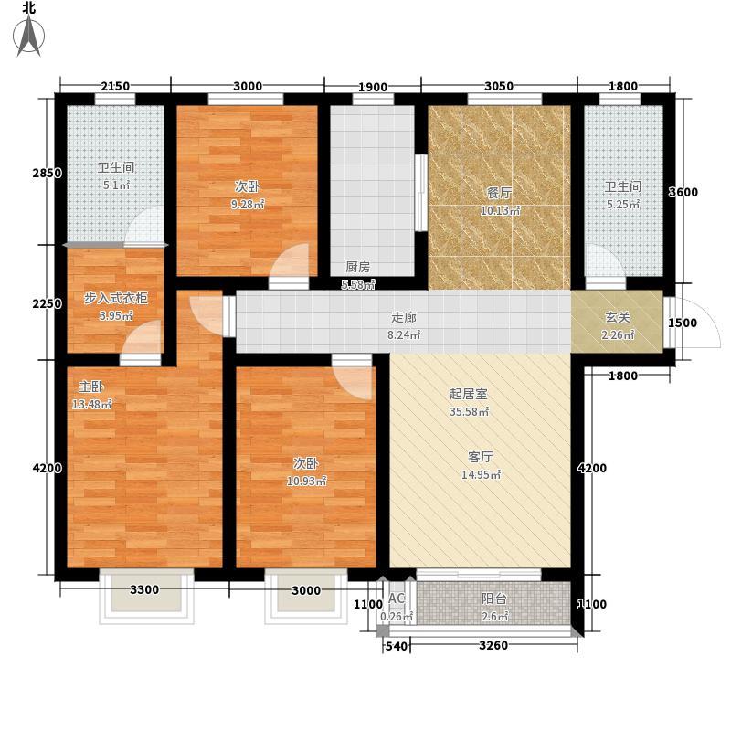棕榈湾128.00㎡三期15#-A户型2室2厅