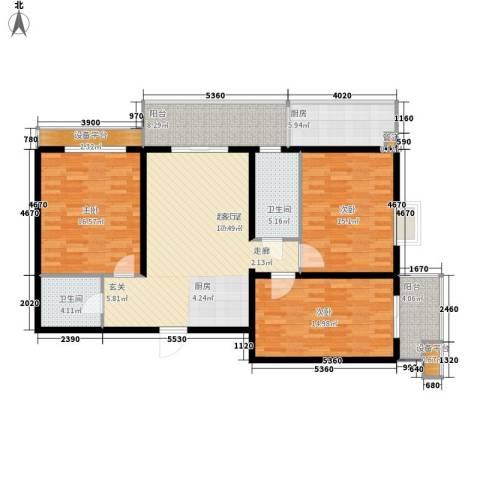 丝路起点3室0厅2卫1厨119.00㎡户型图