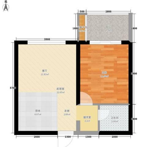 中海东郡1室0厅1卫0厨55.00㎡户型图