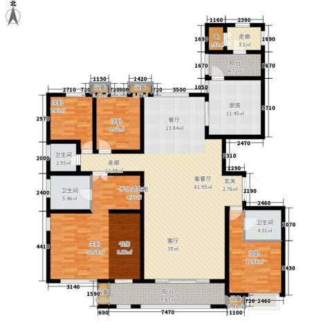 唐山万达广场4室1厅3卫1厨240.00㎡户型图