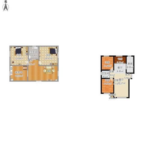 香榭丽花园5室1厅2卫1厨268.00㎡户型图