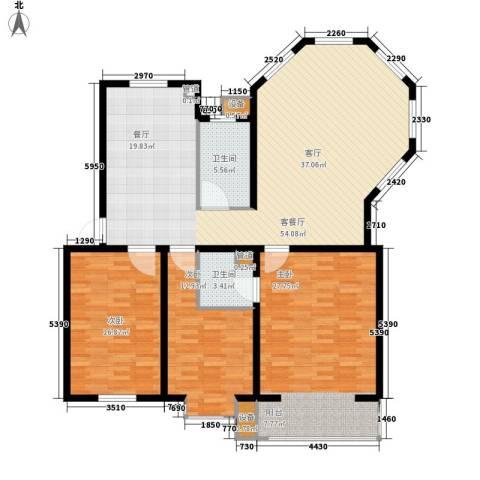 绵绣家园丽水湾3室1厅2卫0厨136.00㎡户型图