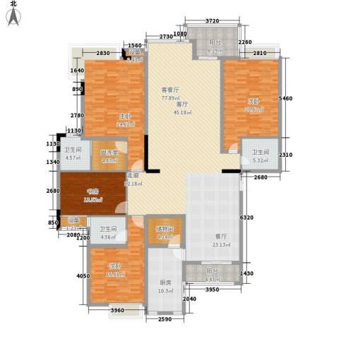 新世纪可居4室1厅3卫1厨223.00㎡户型图