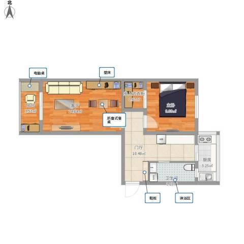 嘉陵南里1室1厅1卫1厨67.00㎡户型图