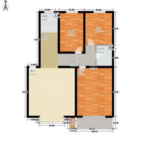 绵绣家园丽水湾3室1厅1卫0厨121.91㎡户型图