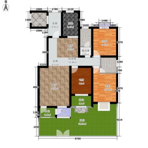 蓝山印象小区3室0厅2卫1厨137.56㎡户型图