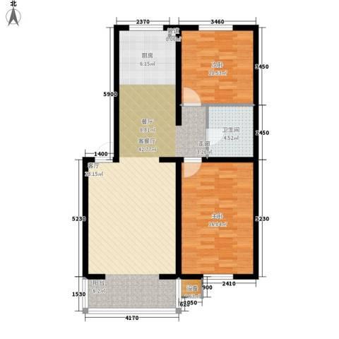 绵绣家园丽水湾2室1厅1卫0厨84.00㎡户型图