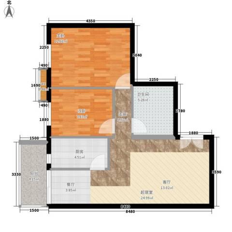 崇立金世园2室0厅1卫1厨80.00㎡户型图