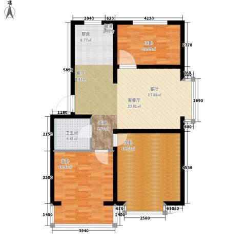 绵绣家园丽水湾3室1厅1卫0厨94.00㎡户型图