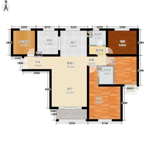 唐山万达广场3室1厅2卫1厨135.00㎡户型图