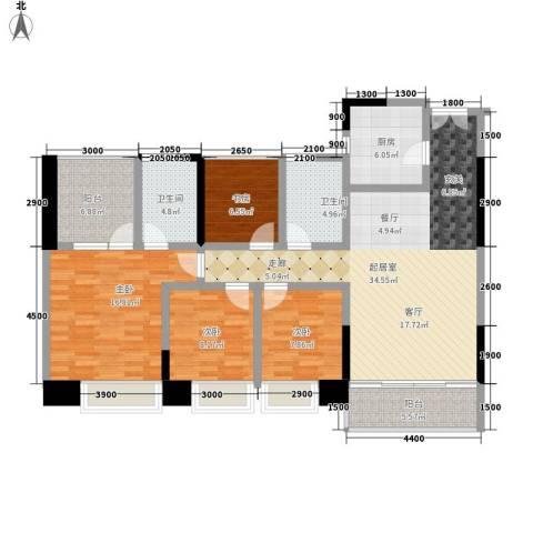 卓越东江4室0厅2卫1厨149.00㎡户型图