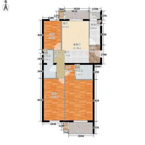 奥特锦鸿嘉苑3室1厅2卫1厨157.00㎡户型图