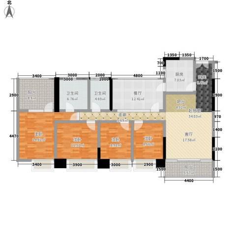 卓越东江4室1厅2卫1厨180.00㎡户型图