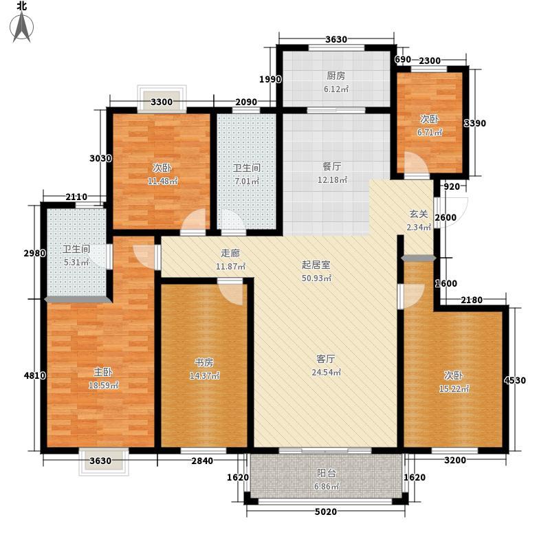 得一剑桥城181.00㎡K户型5室2厅2卫