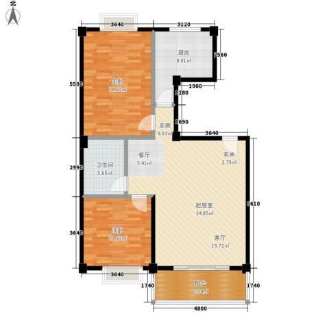 美景苑2室0厅1卫1厨120.00㎡户型图