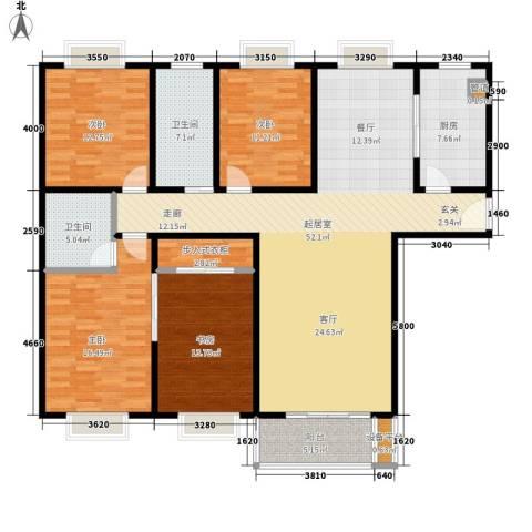 芙蓉名园4室0厅2卫1厨152.00㎡户型图
