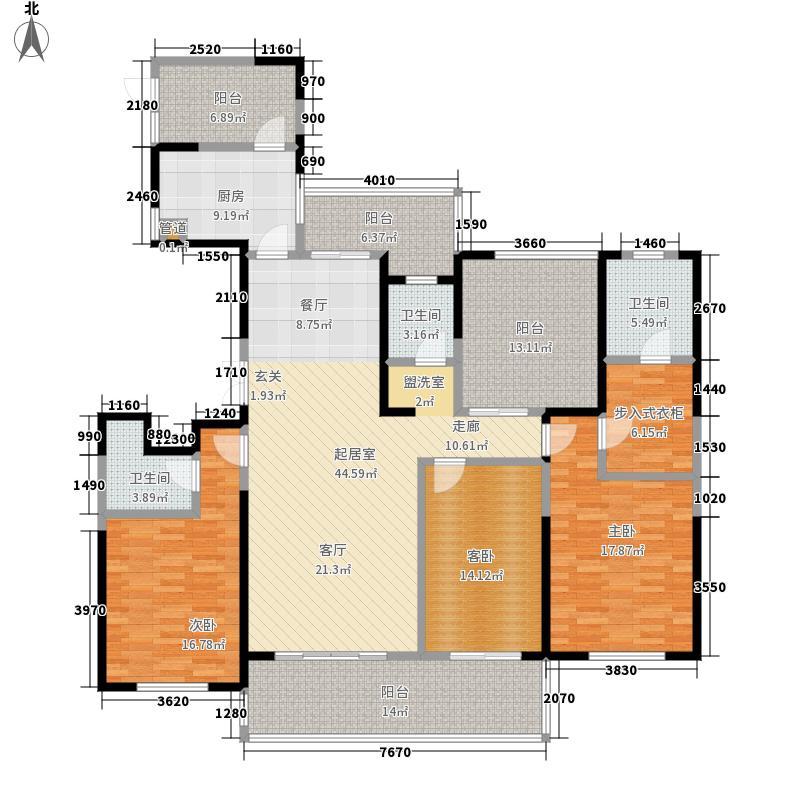 绿地西水东中央生活区181.00㎡B5户型2室2厅3卫
