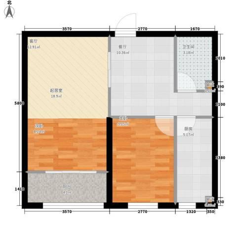 奥特锦鸿嘉苑1室1厅1卫1厨72.00㎡户型图