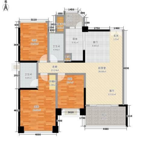 汇峰苑3室0厅2卫1厨137.00㎡户型图