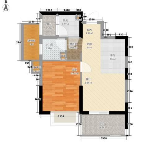 观澜湖云台1室1厅1卫1厨158.00㎡户型图