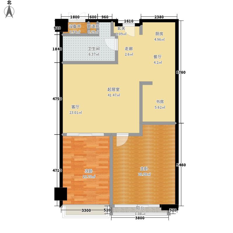凯伦港湾天地92.90㎡D户型3室1厅户型