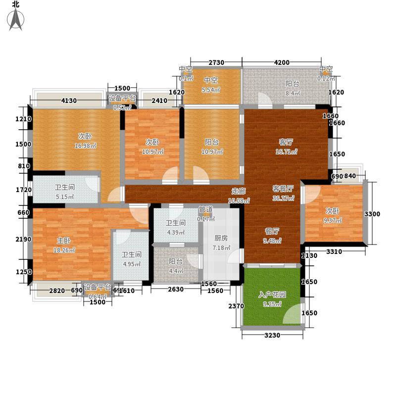 中房金沙海棠150.95㎡4、7栋奇偶面积15095m户型