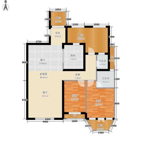 红赫世家2室0厅2卫1厨152.00㎡户型图