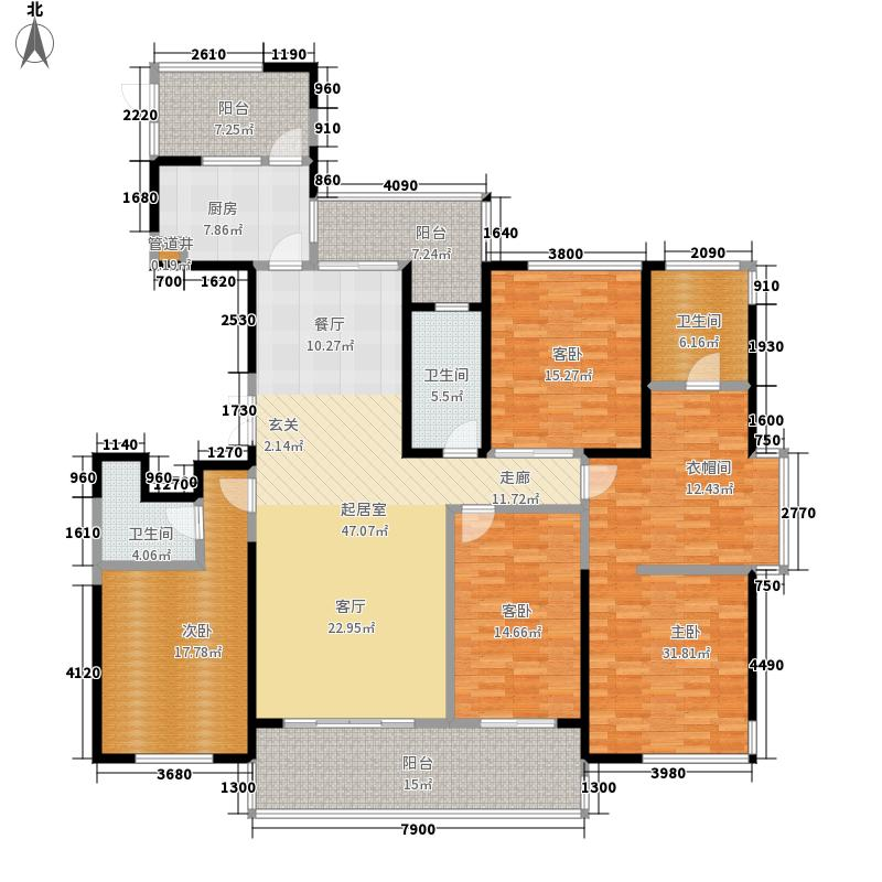 西水东中央生活区191.00㎡绿地西水东中央生活区191.00㎡4室2厅3卫户型4室2厅3卫