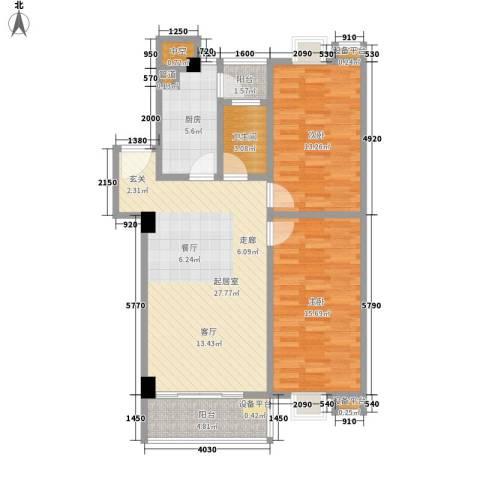 美景苑2室0厅1卫1厨84.00㎡户型图