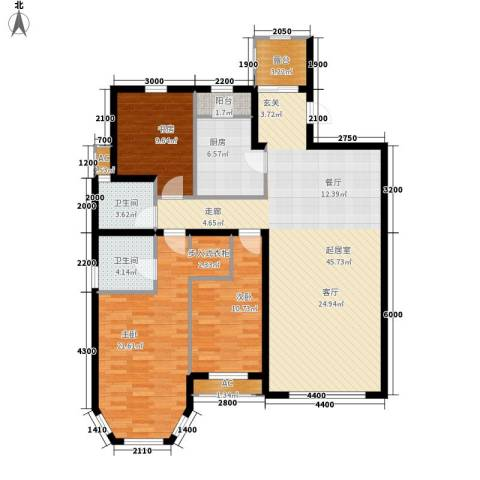 红赫世家3室0厅2卫1厨153.00㎡户型图