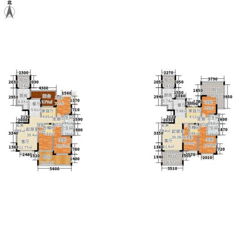 圣莫丽斯三期6室0厅4卫2厨210.00㎡户型图