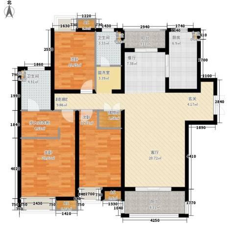 伟安花园3室0厅2卫1厨115.13㎡户型图