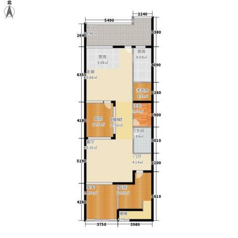 中新公寓1室0厅1卫1厨220.00㎡户型图