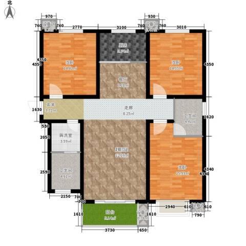 蓝山印象小区3室0厅2卫1厨126.77㎡户型图