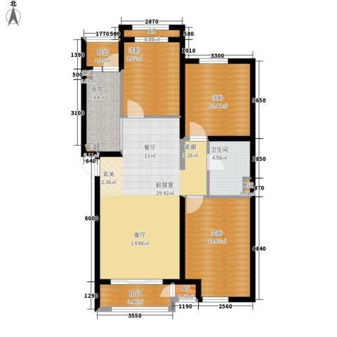 上东水郡3室0厅1卫1厨116.00㎡户型图