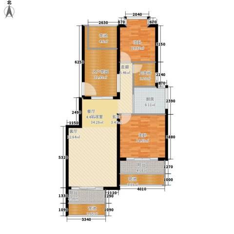鸿坤理想海岸2室0厅1卫1厨142.00㎡户型图