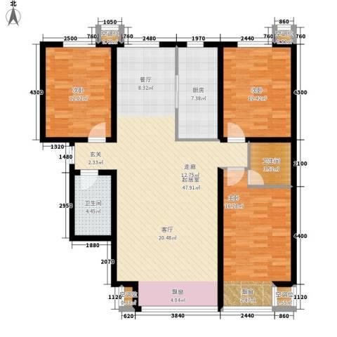 丰润帝景豪庭3室0厅2卫1厨139.00㎡户型图