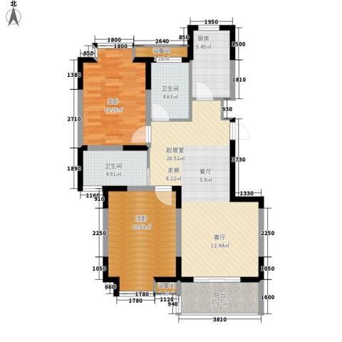 城开怡家2室0厅2卫1厨93.00㎡户型图