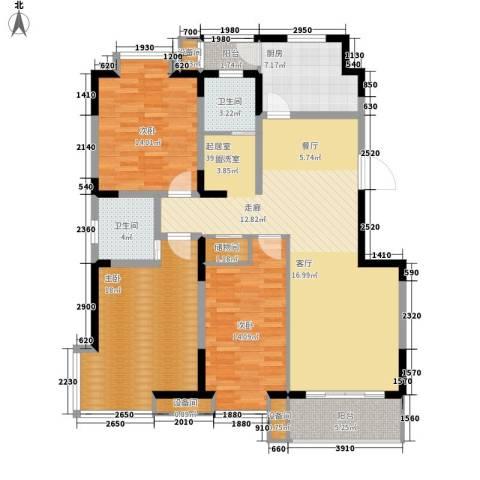 城开怡家3室0厅2卫1厨132.00㎡户型图