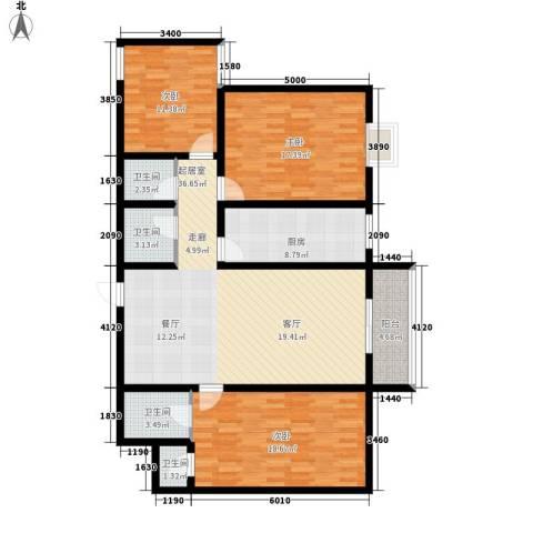 绿港花园3室0厅4卫1厨142.00㎡户型图