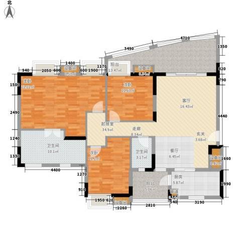 会展西岸3室0厅2卫1厨142.00㎡户型图