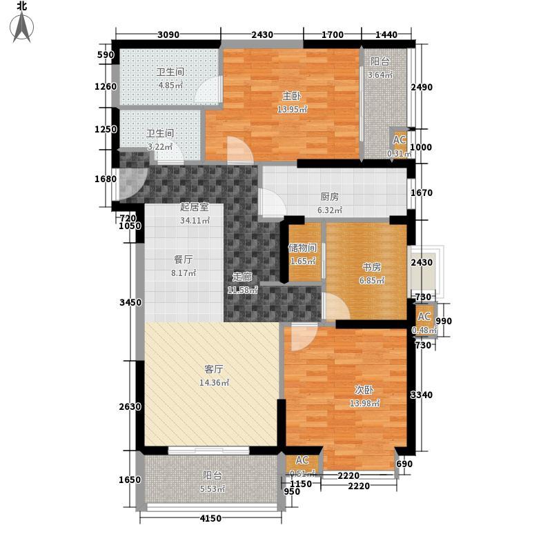 东方米兰122.48㎡8#楼G2面积12248m户型