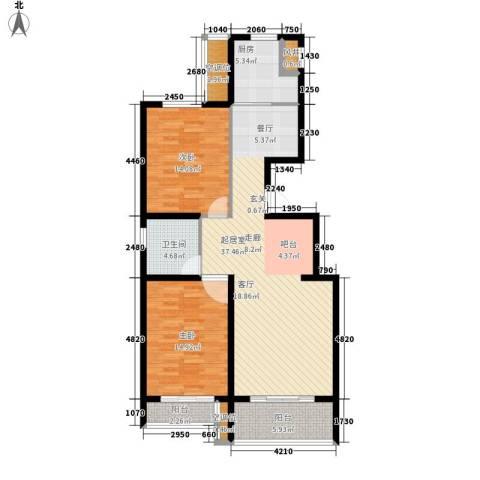 福兴园2室0厅1卫1厨101.00㎡户型图