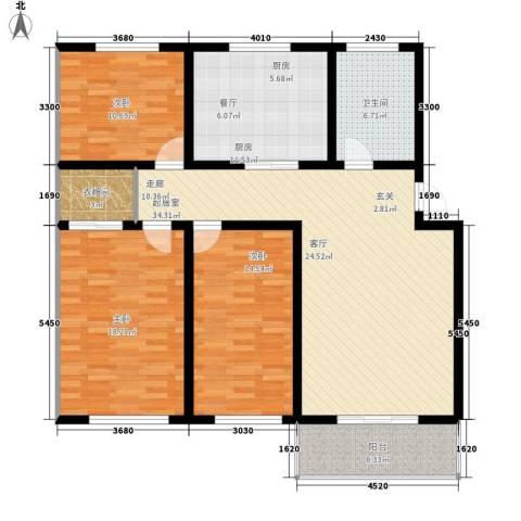 四季枫景3室0厅1卫1厨120.00㎡户型图