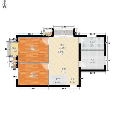 丰润帝景豪庭2室0厅1卫1厨82.00㎡户型图