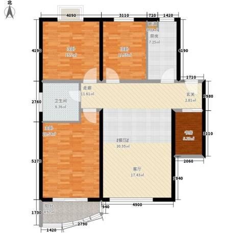 凯森福景雅苑4室0厅1卫1厨128.00㎡户型图