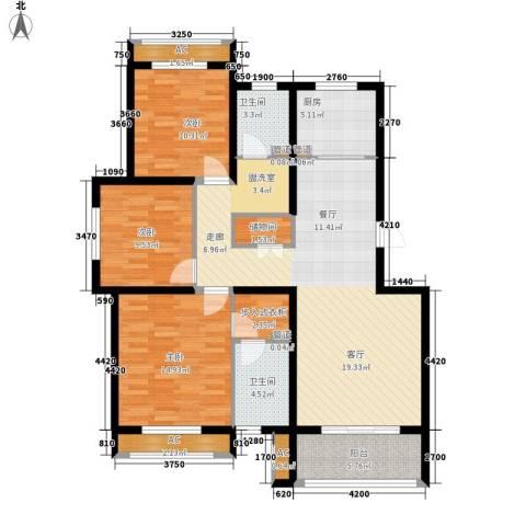 上东水郡3室0厅2卫1厨95.00㎡户型图