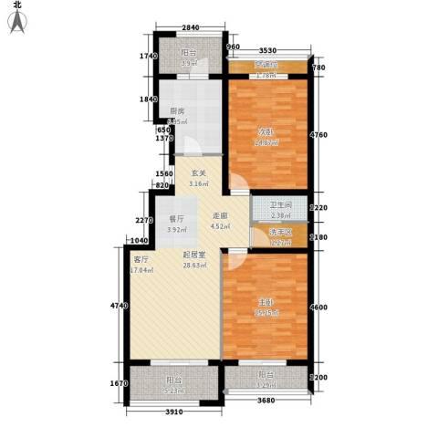 福兴园2室0厅1卫1厨98.00㎡户型图