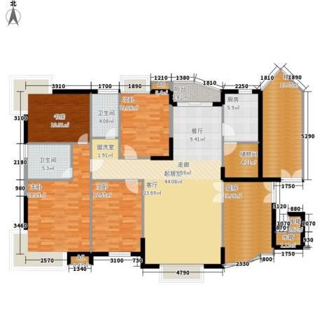 伟安花园4室0厅2卫1厨148.74㎡户型图